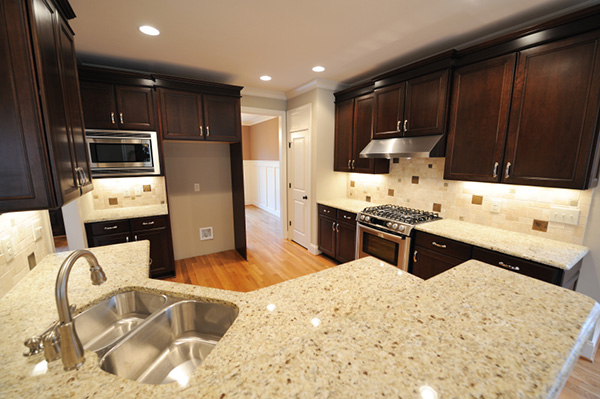 Granite countertop in the kitchen